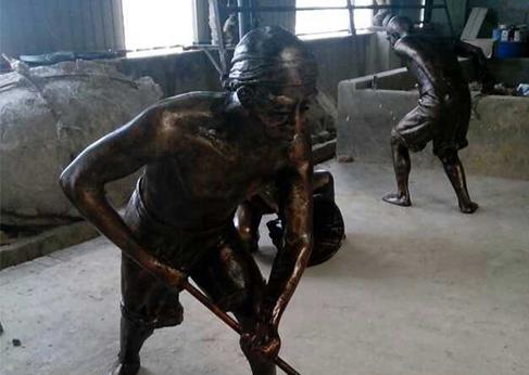铸铜雕塑工艺流程